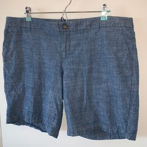 Target/Merona Blue Chambray Shorts Size 16